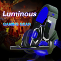 Hot plextone pc780 professional gaming headset estéreo baixo fone de ouvido com microfone led light para dota2 lol cs ir