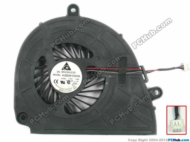 Delta Electronics KSB06105HA AJ82 Server Laptop Fan DC5V 0.40A 3-wire