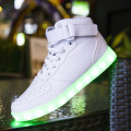 New Fashion Design Luminous Light Up LED Shoes Men Laser Online Flashlight Trainers for Adults Men Casual Shoes  Free Shipping