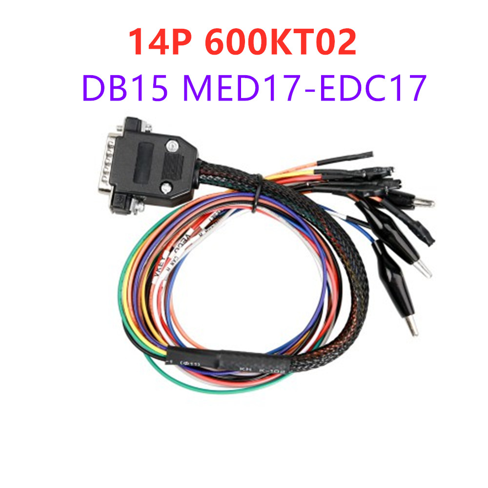 14P 600KT02 DB15 MED17-EDC17 Adapter Use For Powerbox And KTAG KTM ECU Programming
