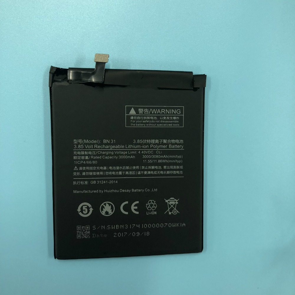 Batterie Smart-Phone Note-5a BN31 Xiaomi Redmi 3000/3080mah-Battery For Accumulator Pro