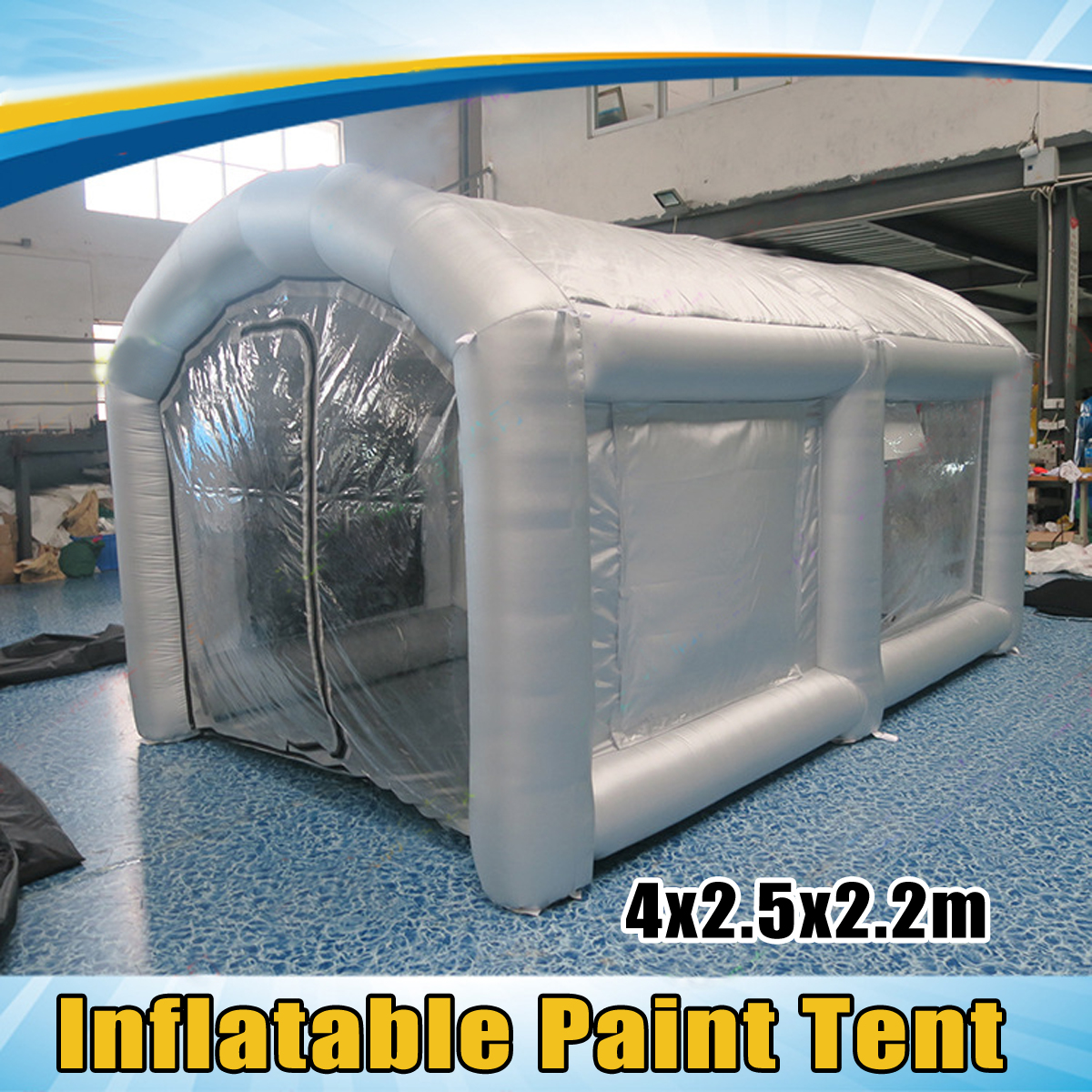 все цены на 4x2.5x2.2M Inflatable Spray Booth Tents Inflatable Paint booth Car Parking Tent Workstation with Blower Outdoor Fun