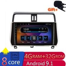 10 «4G ram 2.5D ips 8 Core Android 9,1 автомобильный DVD мультимедийный плеер gps для Toyota Prado 150 2018 Радио Стерео навигация