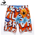 Palager marca summer beach shorts hombres quick dry hot carta imprimir casual shorts hombres sea junta cortocircuitos de la playa