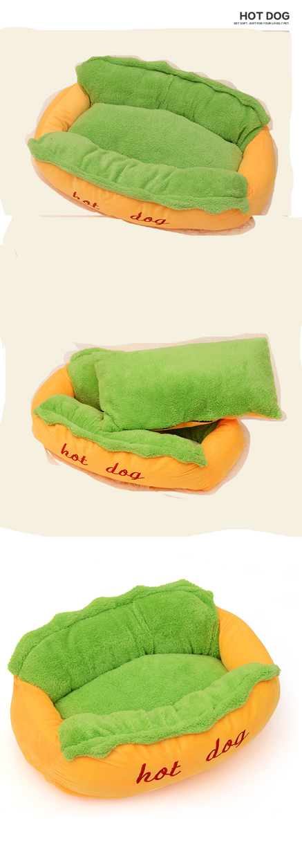 Hot Dog Bed Pet Cute Dog Beds For Small Dogs Warm Cat Sofa Cushion Soft Pet Sleeping Bag Pet Mat Funny Hot Dog Cushion 13