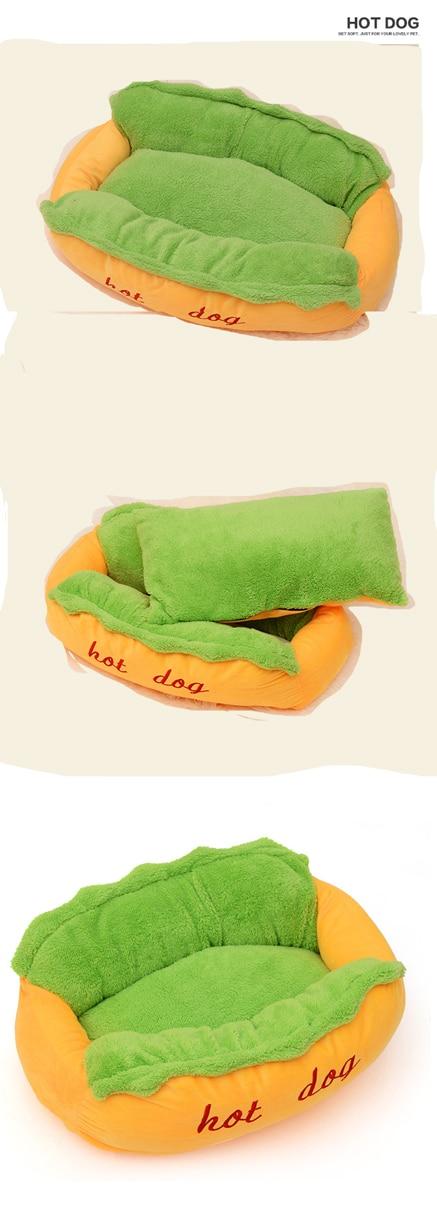 Hot Dog Bed Pet Cute Dog Beds For Small Dogs Warm Cat Sofa Cushion Soft Pet Sleeping Bag Pet Mat Funny Hot Dog Cushion 13