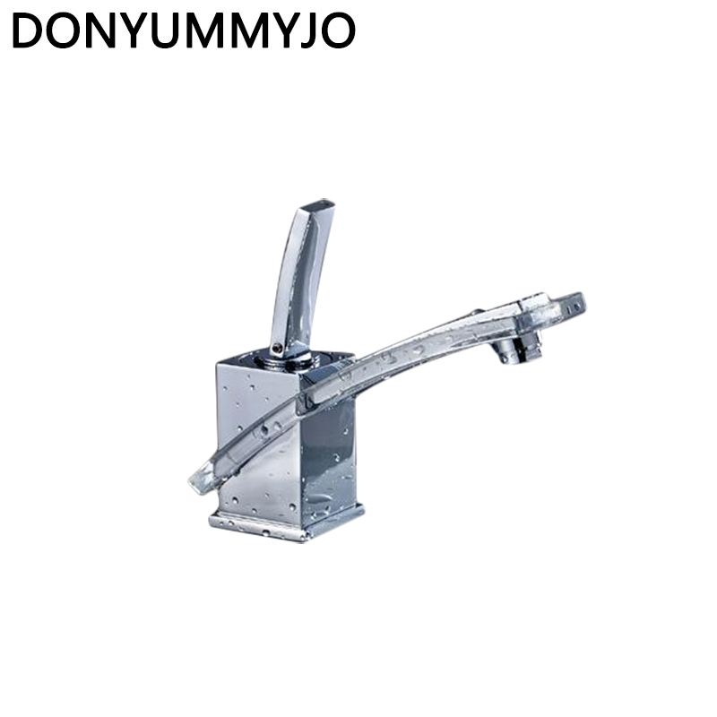 DONYUMMYJO Newest Basin Faucet Water Tap Bathroom Faucet Solid Brass Chrome Single Handle Hot And Cold Water Sink Tap Mixer donyummyjo luxury bathroom basin faucet brass golden polish swan shape single handle hot&cold water vanity sink mixer tap page 6
