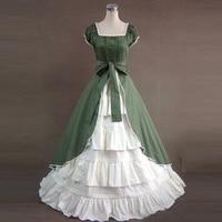Summer Women Vintage Victorian Lolita Dress Ladies Evening Party Long Bandage Gothic Dresses Lolita Costumes