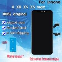 2019 100% оригинал ЖК дисплей для iPhone X XR XS max ЖК дисплей дисплей Pantalla с 3D Сенсорный экран планшета Ассамблеи DHL Бесплатная