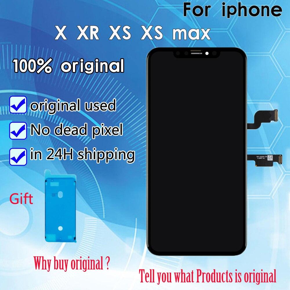 2019 100% lcd original Pour iPhone X XR XS max écran lcd Remplacement Pantalla Avec 3D ensemble numériseur à écran tactile DHL Livraison
