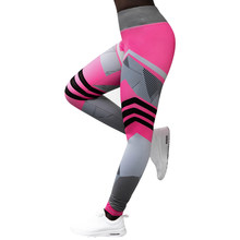 0d108d4157fda Workout Leggings Pants Stretch High Waist Fitness Leggings Jeggings Red  Blue Print Skinny Stretch Exercise Leggins Striped Women
