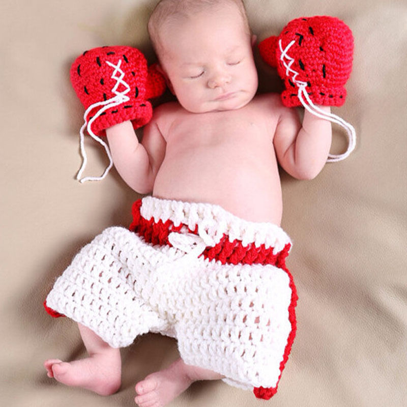 COOL Newborn Baby Girls Boys Crochet Knit Costume Photo Photography Prop Outfits Cute Baby Clothes Sets cute newborn baby girls boys crochet knit costume photo photography prop outfit one size baby bodysuit hat 2pcs