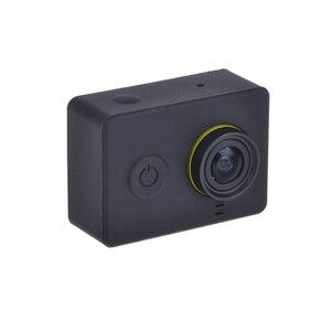 Image 2 - Funda protectora de silicona para Xiaomi Yi accesorios para Cámara de Acción + tapa de lente, para Xiaoyi Sport Cam