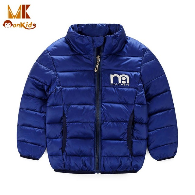 Monkids Kids Boys Jacket Baby Boy Clothes Windbreaker Boys Winter Jacket Coat&Jackets for Children Outerwear Clothing 2017 New