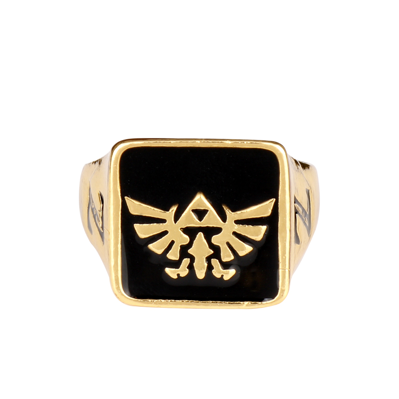 Cosplay Jewelry The <font><b>Legend</b></font> <font><b>of</b></font> <font><b>Zelda</b></font> <font><b>Rings</b></font> for Men Woman Accessories Hip Hop Style Finger <font><b>Ring</b></font> image