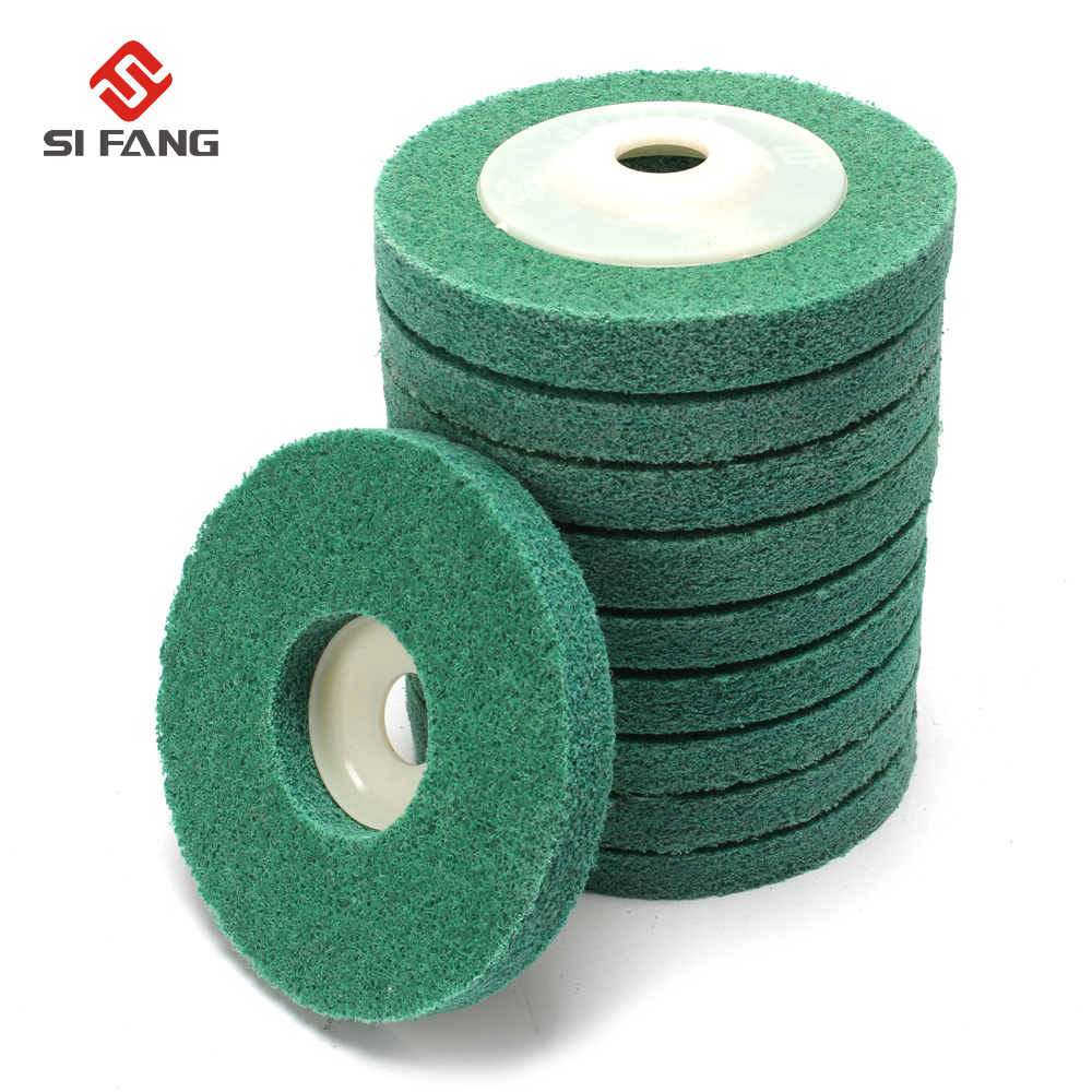 5Pcs 4 Inch Fiber Wheels Nylon Wheel Bowl Polishing Abrasive Discs Grinding Tool Hardness 12P