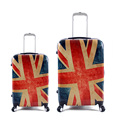 20Inch Vintage Luggage ABS Travel Suitcase On Wheels Flag Spinner Trolley Travel Bags Password Lock Boarding Rolling Luggage