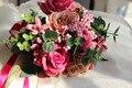 Red Berry Vintage Wedding Flowers Bouquet Burgundy Bridal Bouquets Ribbons Buques casamento noiva buque 2017 Bridesmaid Bouquet