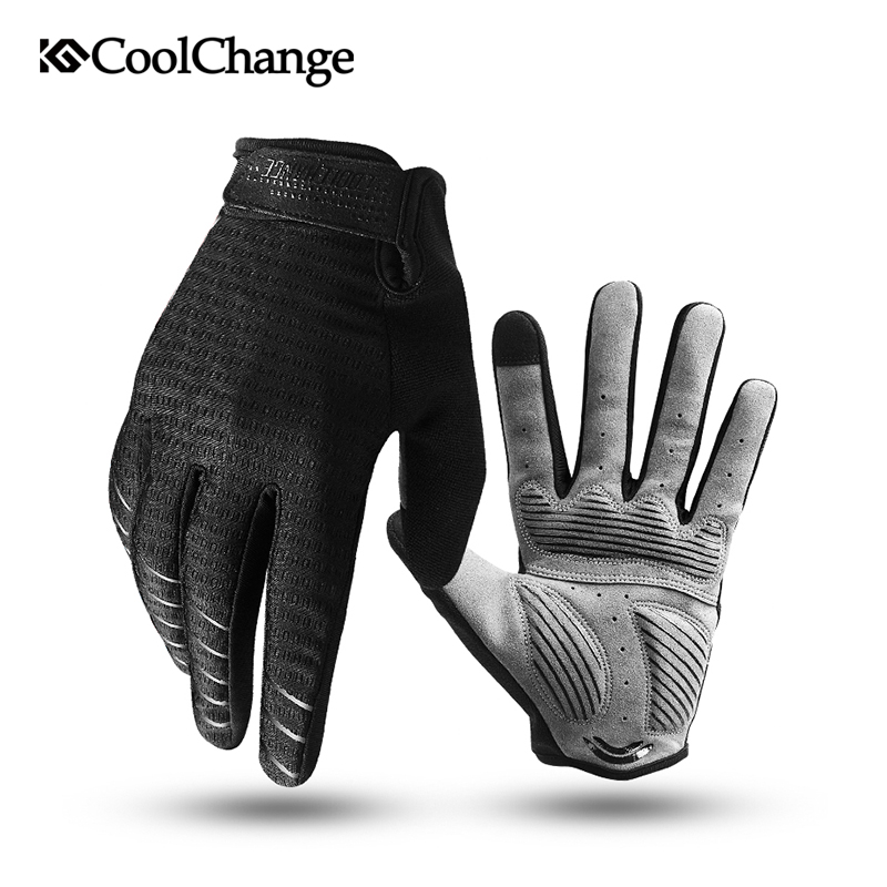 CoolChange Cycling Gloves Full Finger Bicycle Gloves Touch Screen Windproof Sports Man Woman Gloves Bike Sponge Shockproof Glove free shipping 1 piece new remote car key fob card 315mhz id7944 chip cas3 system for bmw cas3 e60 e61 e90 e92 e93 e70 71 72