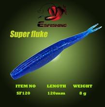 Esfishing Lures New 2017 6pcs 12cm/8g Super Fluke 4.7″ Lure Soft Fishing Bait Soft Leurre souple Carp Fishing