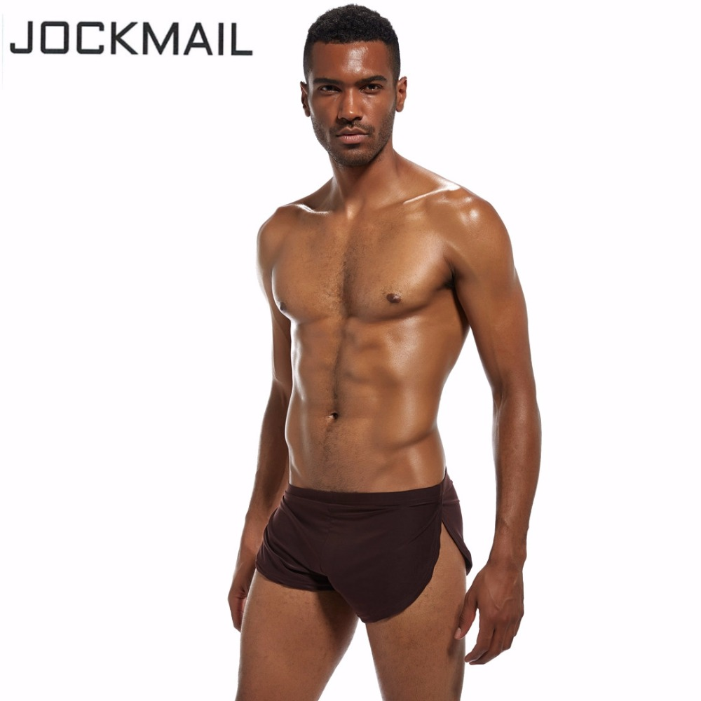 JOCKMAIL Brand Men Underwear Boxer Shorts silk sexy penis pouch hombre panties Trunks cuecas Gay Underwear Home Sleepwear