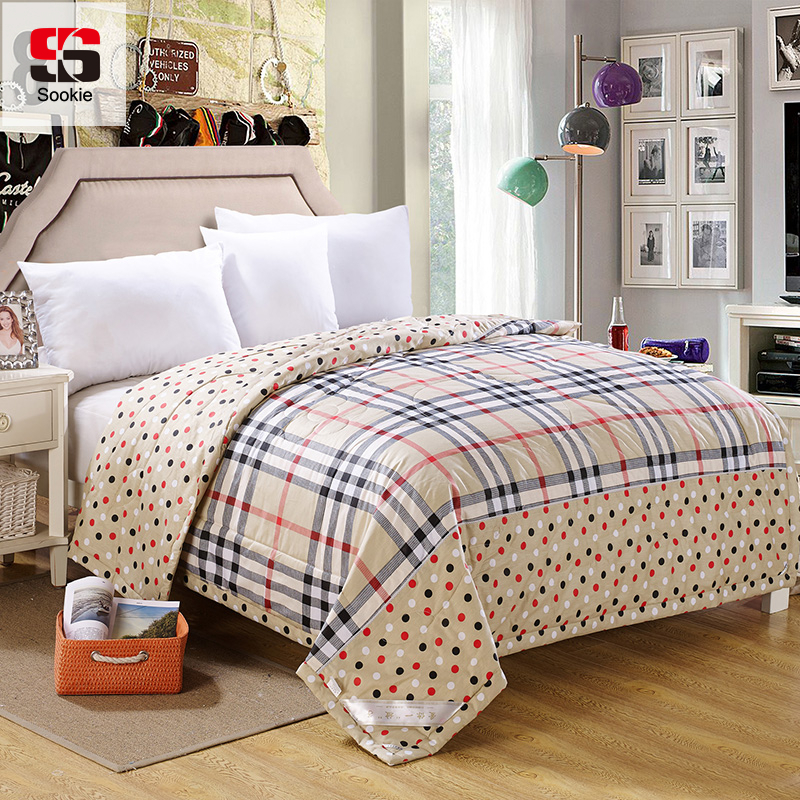 Sookie Summer Quilt 100% Cotton Quilted Bedspread Plaid