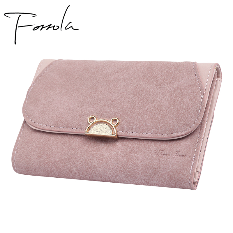 Preppy Style Women Wallets Leather Design Cat Purses& Wallets Small Credit Card Lady Coin Purses Holders For Girls Carteira Sac
