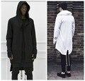 2015 осень и зима мода новый черный плащ с капюшоном мужской уличная хип-хоп длинные толстовки одежды мужчины верхней одежды холодный человек