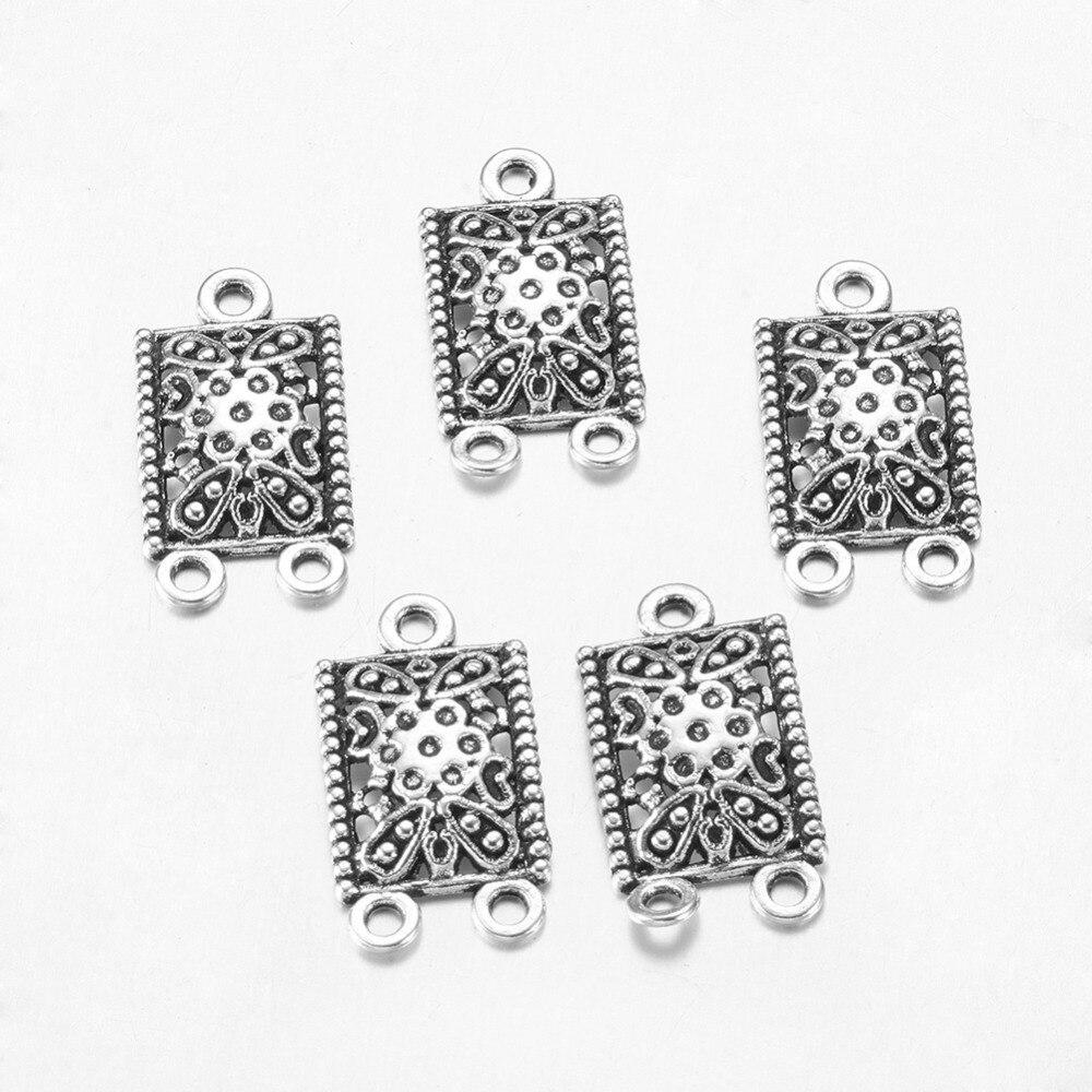 20//200pcs 18x8mm Antique Silver Abacus Tibetan Charms Pendants LF