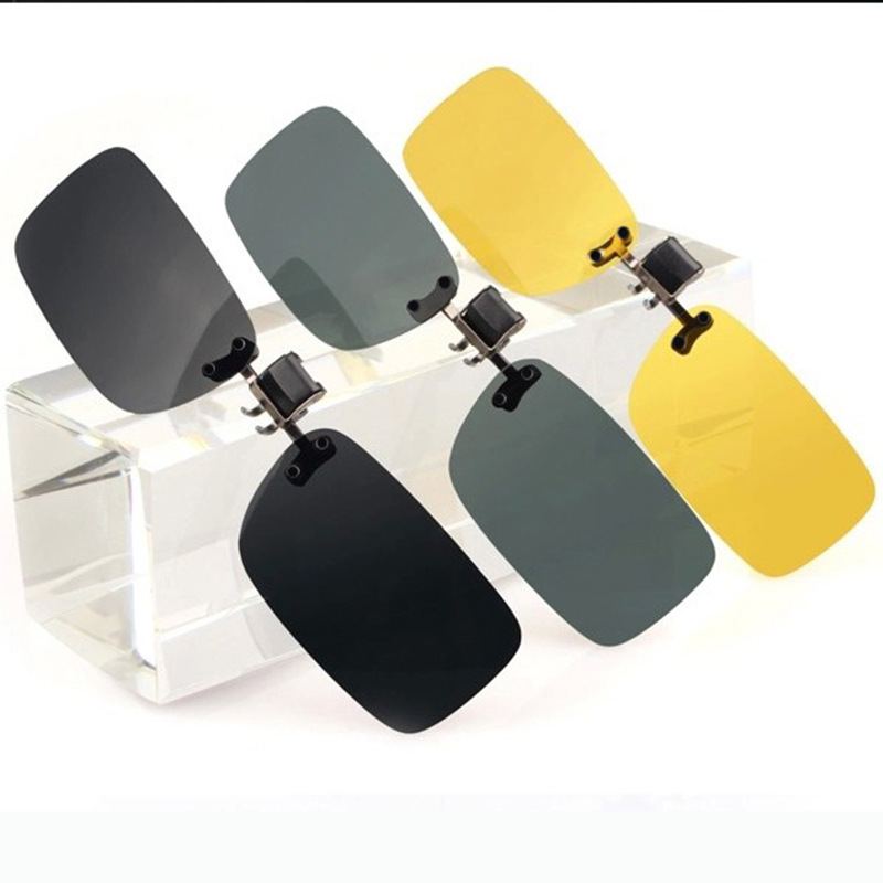Ultra-light Car Driver Gogglesanti-ultraviolet Polarizing Clip Driver Anti-glare Sunglasses Clip Myopia Sunglasses Resin Clip