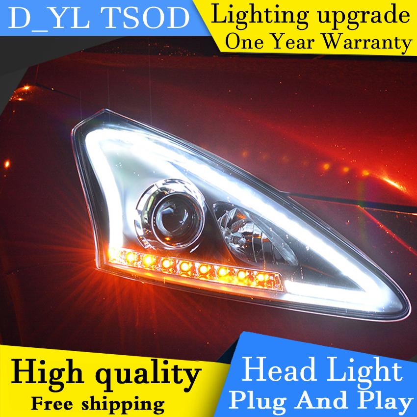 Car Styling Headlights for Nissan Tiida 2011 15 LED Headlight for Tiida Head Lamp LED Daytime