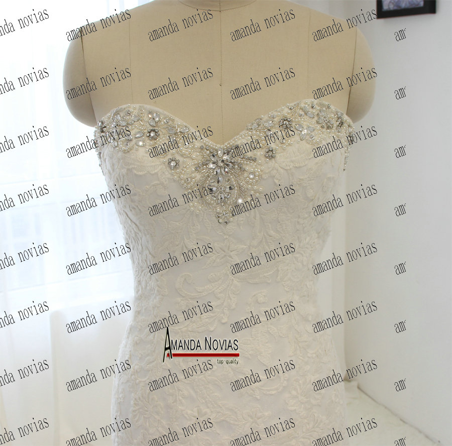 small resolution of real sample vestidos de novia sleeveless crystal sequin beads mermaid wedding dress in wedding dresses from weddings events on aliexpress com alibaba
