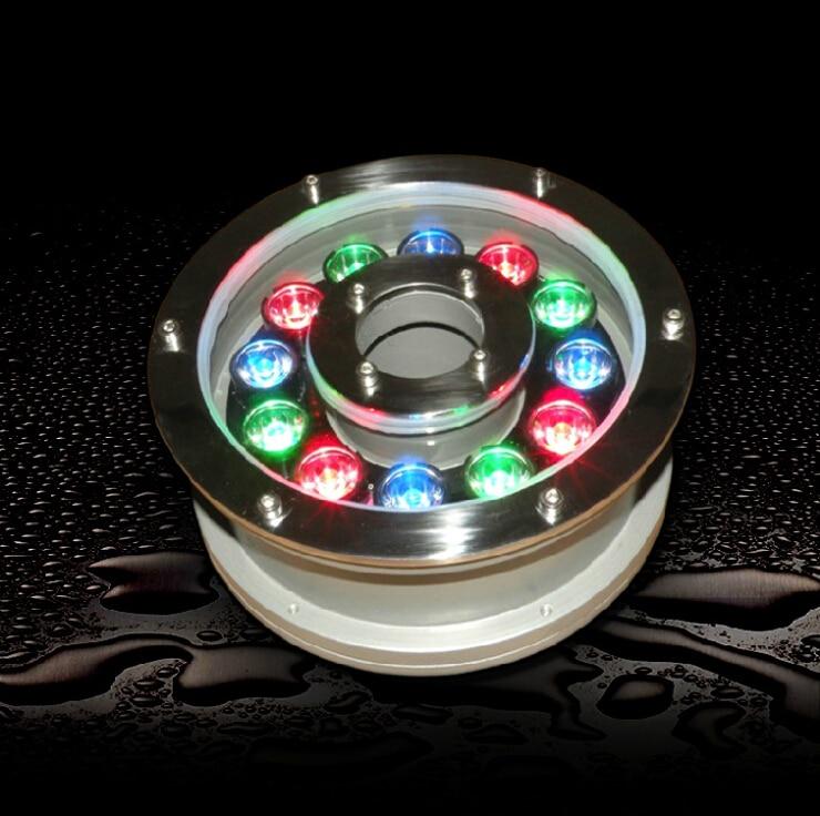 Haute qualité, LED 12 V 24 V 6 W 9 W 12 W LED lumière sous-marine/lampe de paysage, fontaine colorée rvb, livraison gratuite Fedex/DHL