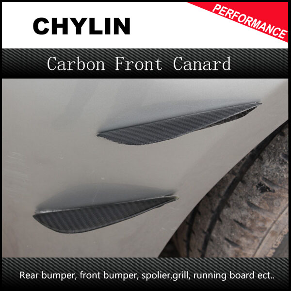 Universal Auto Car Bumper Moulding Decorative Fins Canards Front Splitter Sticker Carbon Fiber Car Styling For