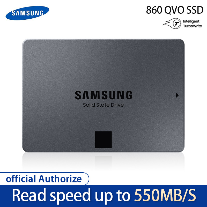 Samsung Ssd 860 Qvo 1 to disque solide interne Hdd disque dur Sata3 2.5 pouces ordinateur de bureau ordinateur de bureau Mlc disque dur interne