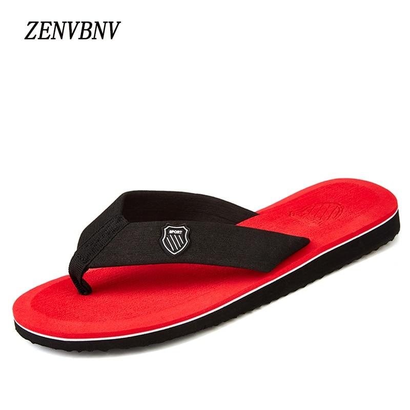 ZENVBNV Big Size 39-44 Men Sandals New Brand Flip Flops Men Beach Slippers For Men Summer Outside Shoes Flat Sandals 2016 genuine leather sandal shoes brand designer beach flip flops slippers male flat sandals for men 38 44 size
