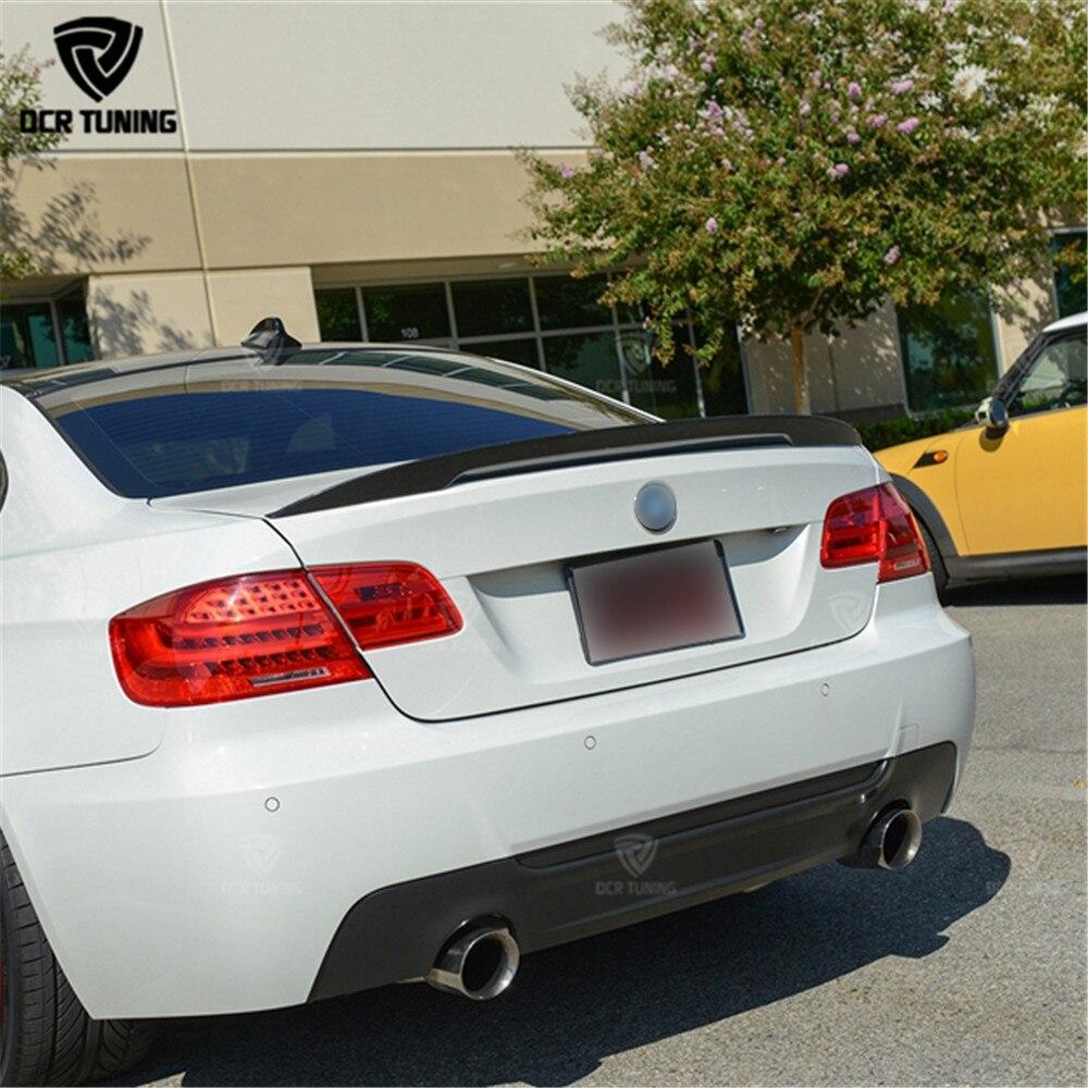 P Стиль углерода крылья для BMW E92 Спойлер 3 серии 2 двери E92 M3 E92 купе углерода спойлер производительность Стиль тюнинг автомобилей 2005-2012