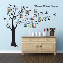 Large Size Trees Memory Black 3D DIY photo Wall Stickers Wall Decals Adhesive living room Family Mural Home Decor Wallpaper