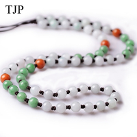 TJP Special price Jade Pendant rope chain Emerald Material Natural stone necklace free shipping