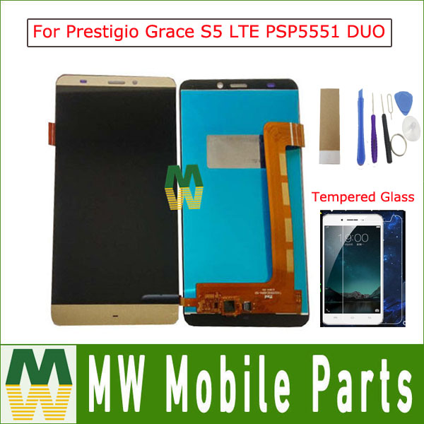 1PC/Lot 5.5For Prestigio Grace S5 LTE PSP5551 DUO PSP 5551 DUO LCD Display+Touch Screen Digitizer Assembly With Tools 5 Color