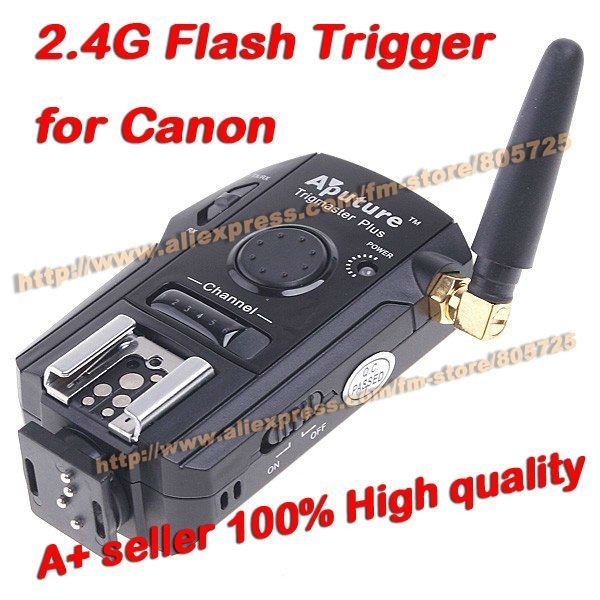 Free Shipping Professional Aputure Trigmaster Plus TX3C 2.4G wireless Flash Trigger for Canon 40D 30D 5D Mark etc 104009