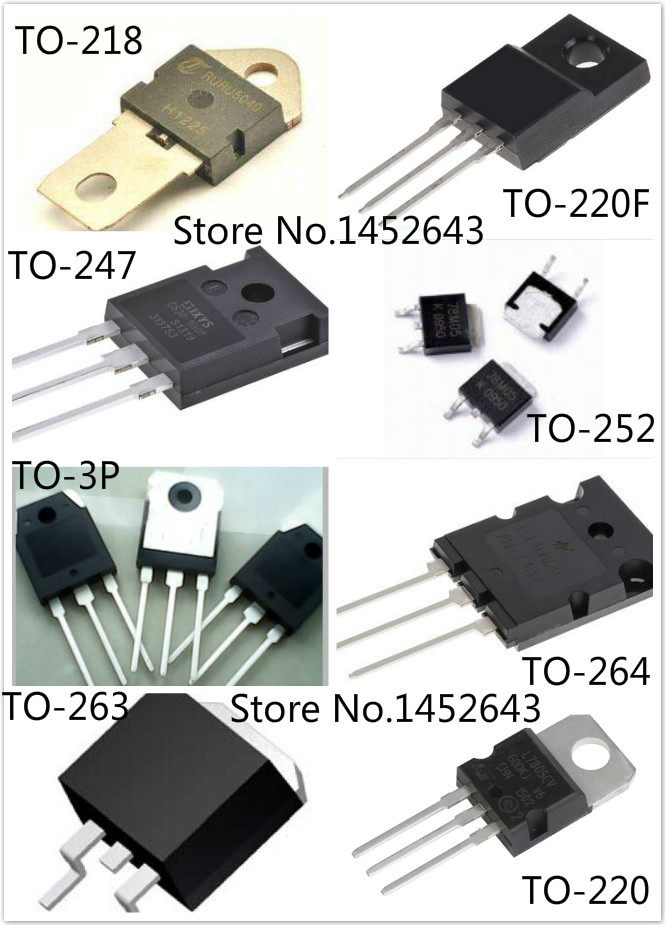 20PCS/LOT FR120N IRFR120N TO-252 / MBR1080 TO-220 / D1760 2SD1760 TO-252 / L2703S IRL2703S TO-263 image