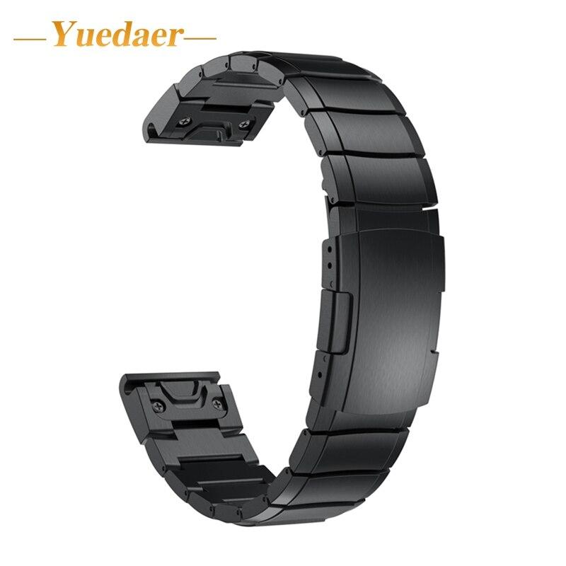 Yuedaer Нержавеющаясталь часы ремешок для Garmin Fenix 5 gps часы покрытие браслет для Garmin Forerunner 935 relogio inteligente