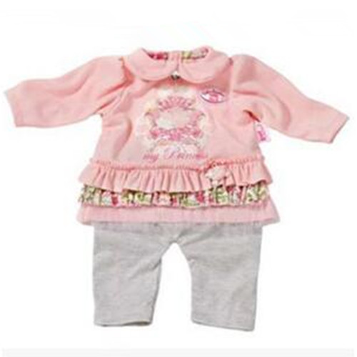 New style 1set pink set clothes Wear fit 43cm Baby Born zapf, Children best Birthday Gift(only sell clothes)