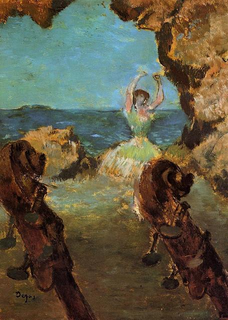 651264832990c US $62.69 15% OFF Oil Painting Reproduction on Linen Canvas,Dancer on Stage  1 by edgar degas,Free DHL Shipping,handmade,Top Quality oil paintings-in ...
