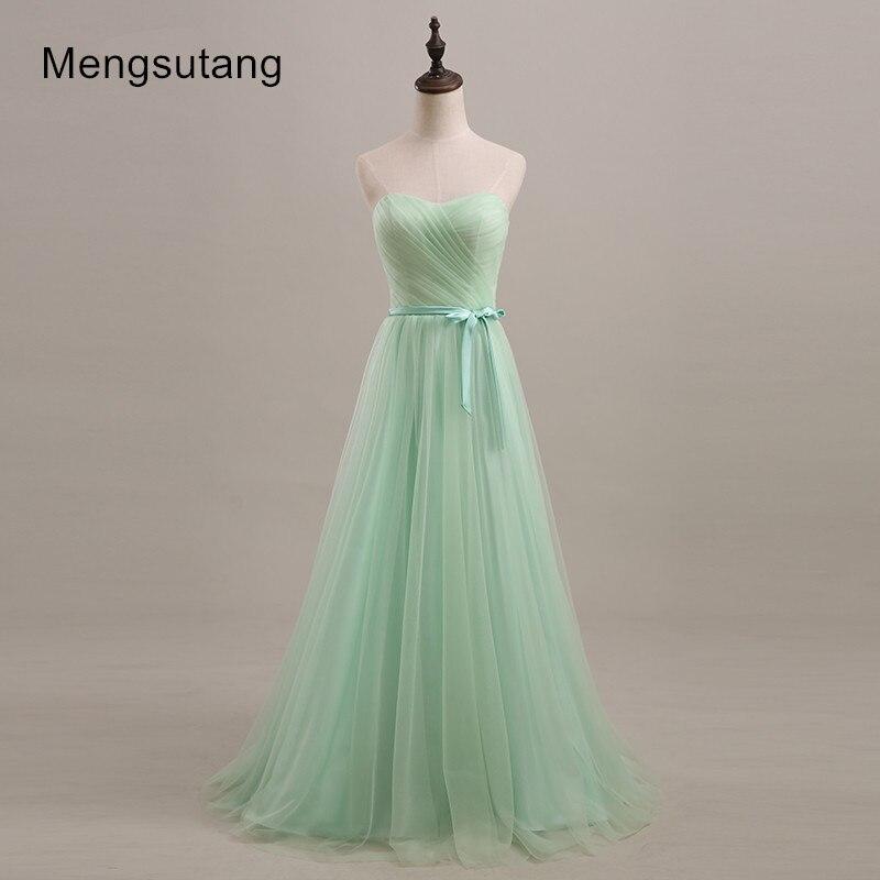 Robe de soiree 2019 Mint green/Purple/Pleat Long   Bridesmaid     Dresses   Under 50 Wedding Party   Dress   vestido de noche prom   dresses