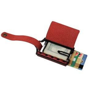 Image 5 - ZEEKER portefeuille multifonctionnel en cuir pour hommes, nouveau portefeuille multifonctionnel en métal, porte cartes de crédit