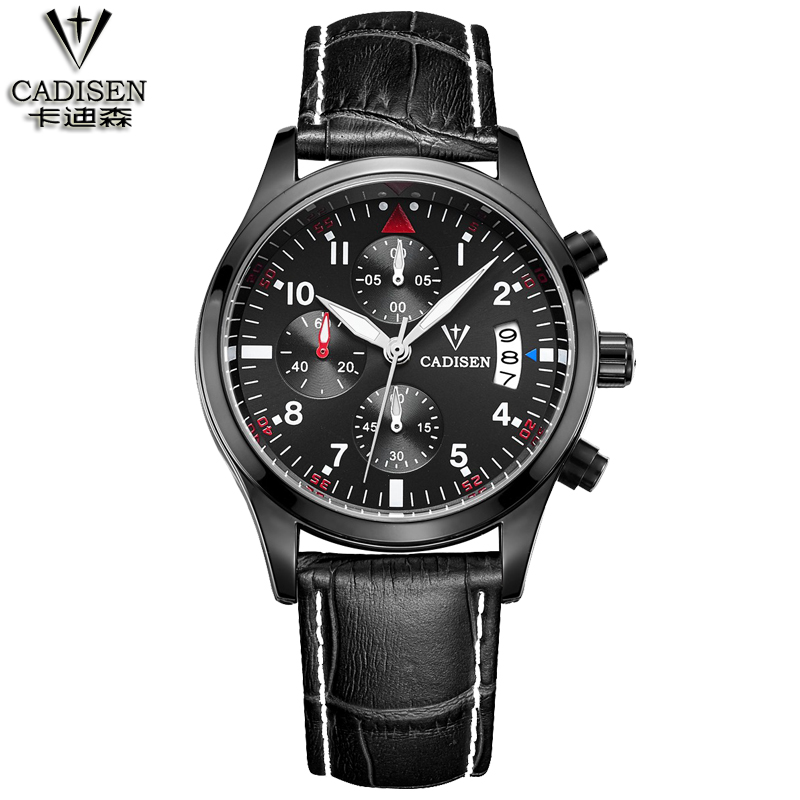 CADISEN Fashion Chronograph Sport Mens Watches Top Brand Luxury Quartz Watch Reloj Hombre 2016 Clock Male hour relogio Masculino кресло коляска механическое vermeiren v300 30°