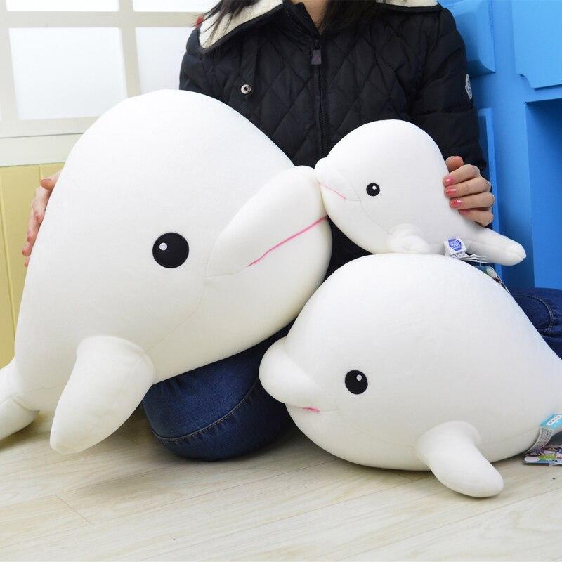 60cm Big Fish Stuffed Plush Toy Soft White Whale