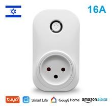 Tuya Smart Life WiFi Water Heater Switch Boiler Switches Israel Type Plug Socket Alexa Echo Google Home Voice App Timer